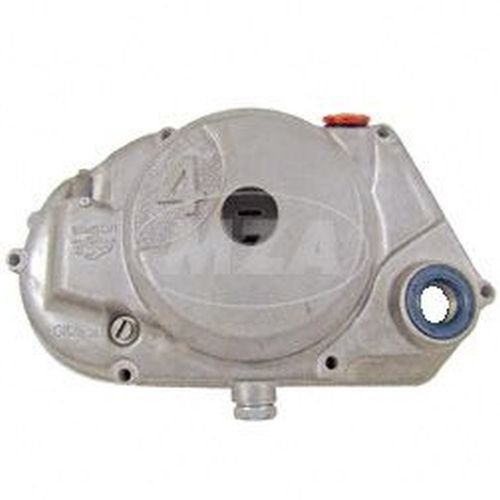 Kupplungsdeckel SIMSON 4-Gang, natur - vormontiert (DZM-Antrieb, Schraubenritzel, Verschlussschrauben, Wellendichtringe) - f. Motor-Typen M500 / M700
