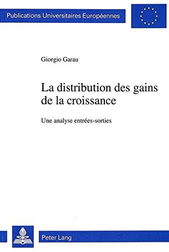 La distribution des gains de la croissance par Garau