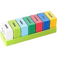 Preisvergleich für Saiko Tablettenbox Pillenbox Pillendose Pillendosen Pillen Dose Wochendosierer Medikamentendosierer 7 Tage Woche...