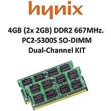 Hynix 4GB Dual Channel kit (2x 2GB) DDR2667MHz PC2–5300200pin So DIMM Memoria portátil 3rd Memory
