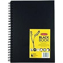 Derwent - Cuaderno tamaño A4 (orientación vertical), color negro