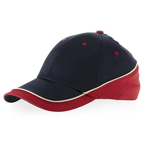Slazenger - Basecap 'New Edge Cap' Einheitsgröße verschiedene Farben Navy/Red/Natural