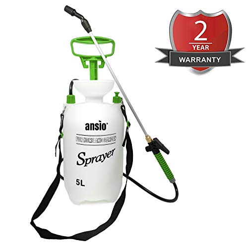 Drucksprüher 5L, Sprüher für Garten/Rasen Unkrautspritze Pumpenaktion mit Sicherheitsventil, Schultergurt - 5 Jahre Ersatzgarantie