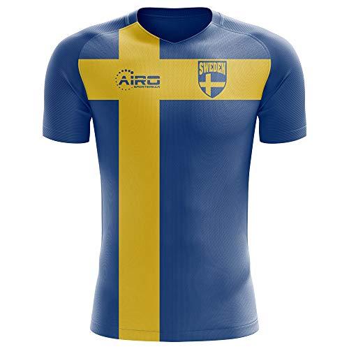 139dd2691 Airo Sportswear 2018-2019 Sweden Flag Concept Football Soccer T-Shirt