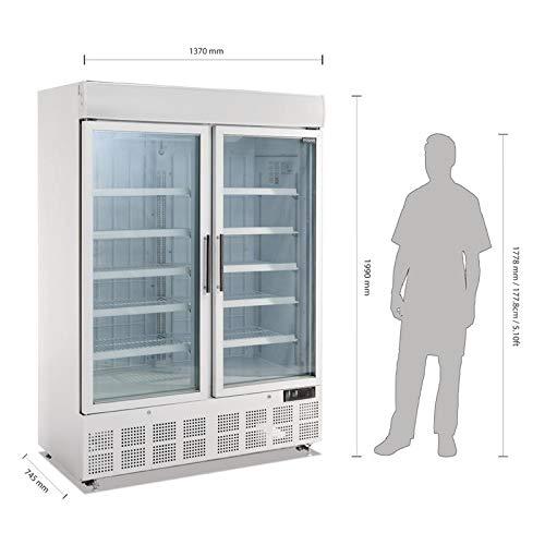 Polar congelador de pantalla con caja de luz 920L comercial restaurante Catering