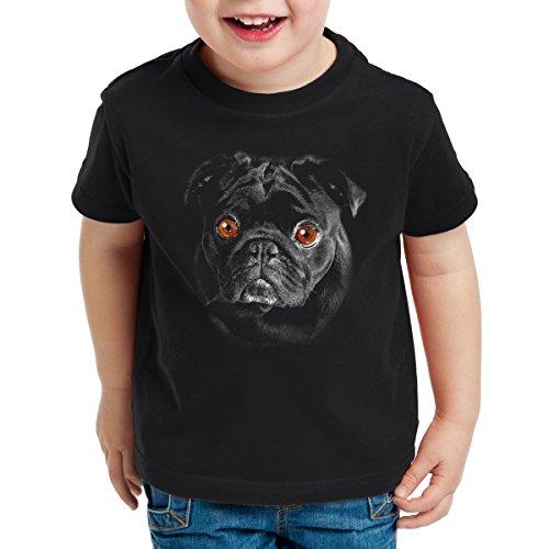 style3 Bronx Kinder T-Shirt Hundegesicht Mops Hund, Größe:164 -
