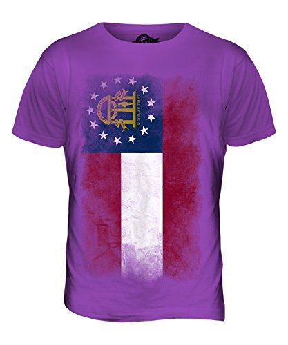 CandyMix Bundesstaat Georgia Verblichen Flagge Herren T Shirt Violett