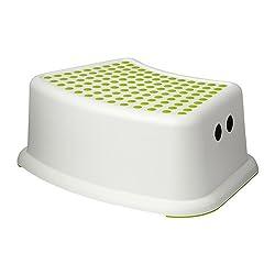 Ikea 602.484.18 Forsiktig Childrens Stool, Green/White
