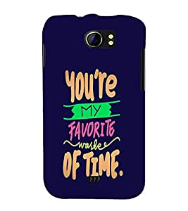 You Are My Favorite 3D Hard Polycarbonate Designer Back Case Cover for Micromax Canvas 2 A110 :: Micromax Canvas 2 Plus A110Q