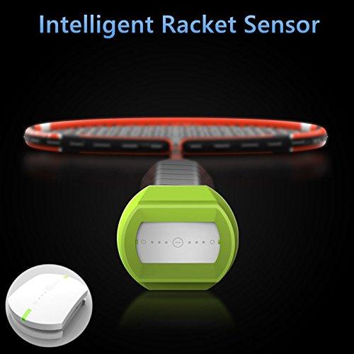 Bazaar Coollang Xiaoyu Smart Badmintonschläger Sensor Bluetooth 4.0 Motion Analyzer Super Light Badmintonschläger