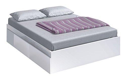 Habitdesign 006088BO - Cama con 4 cajones,Medidas de 150x190 Acabado Blanco Brillo