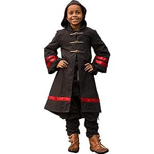 Epic Armoury- Wizard Robe Harry-Epic Black/Darkred vestido, Color (Iron Fortress 33070515)