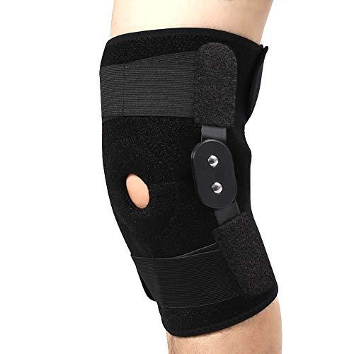 2 Arten Neue Art und Weise justierbare Sport-Knie-Stützklammer-Schutz-Bein-Kompressionshülsen (Color : Black Hinges)