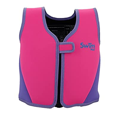 SwimMad Child's Swimming Jacket 18-30Kg 3-6 Years (PINK) - 8 removable soft foam floats offer adjustable buoyancy by SwimMad