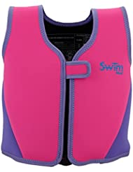 SwimMad Child's Swimming Jacket 18-30Kg 3-6 Years (PINK) - 8 removable soft foam floats offer adjustable buoyancy