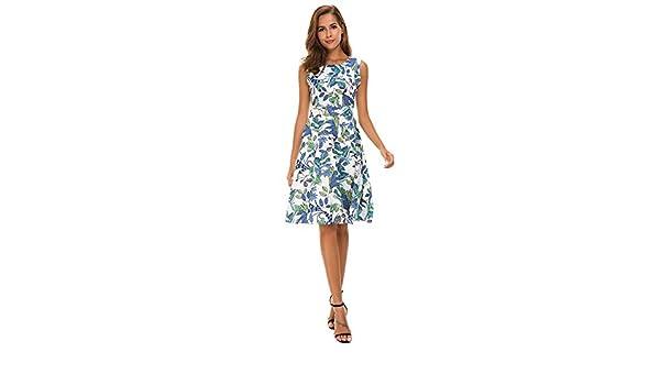 SamMoSon Damen Elegant Kleider Spitzenkleid Sommerkleid