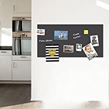 selbstklebende magnetische Tafel l Klebefolie l Wandtafel -grau- 100x50 inkl. Kreide und 10 Magnete - Memotafel Selbstklebefolie Vinyl-Folie Küchentafel Türtafel
