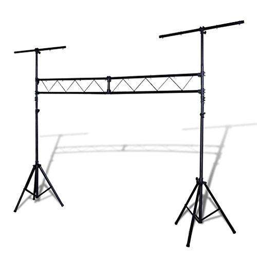 Festnight Traversensystem aus Stahl Traversen Lampen T-Balken DJ Stand Lichtstativ Max. Tragkraft 120 kg