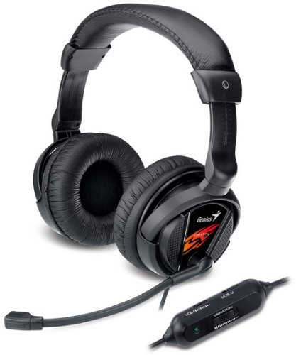 Genius HS-G500V Binaural Bandeau Noir Casque audio - Casques audio (PC/Jeux, Binaural, Bandeau, Noir, Avec fil, 2 m)
