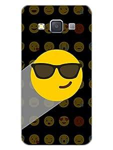 Samsung A3 Back Cover - Whatsapp Emoji - Mr Swagger - Attitude And Swag - Black - Designer Printed Hard Shell Case