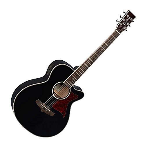Tanglewood TW4BK Super Folk–Guitarra electroacústica, superior de cedro macizo, con ecualizador