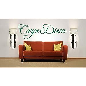Carpe Diem Zitat. Vinyl, Wandkunst Aufkleber, Wandbild, Aufkleber. Haus, Wanddekoration.