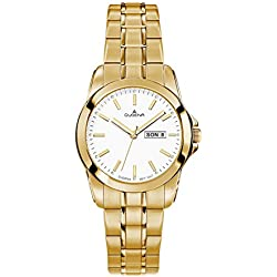 Dugena Damen-Armbanduhr Analog Quarz Edelstahl beschichtet 4460566