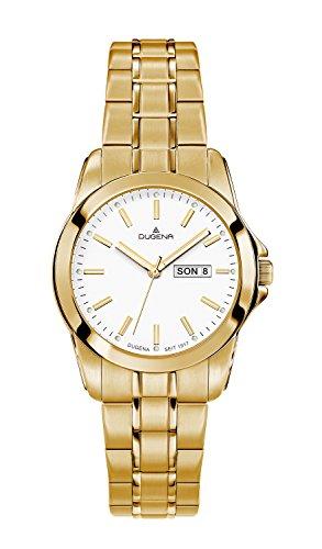 Dugena–Reloj de pulsera analógico para mujer cuarzo, revestimiento de acero inoxidable 4460566