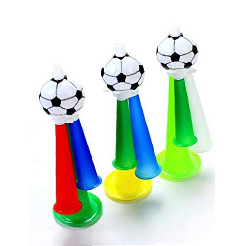 Iaywayii Fans 1 Stück Fußball Kunststoff Horn Pfeife Partei Karneval Konzerte Lustige DREI Ton Trompete Spielzeug Für Fußball Basketball Und Baseball-Spiel (Zufällige Farbe)