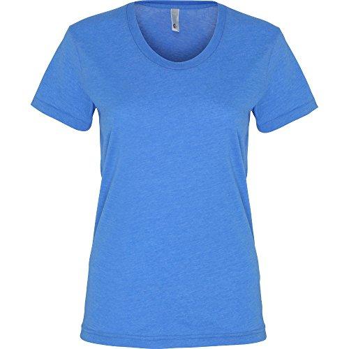 American Apparel Womens/Ladies Polycotton Short Sleeve T-Shirt Heather Lake Blue