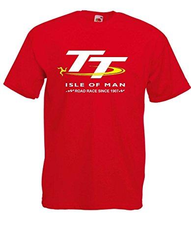 T-Hemd - TT Isle of Man (S, Rot)