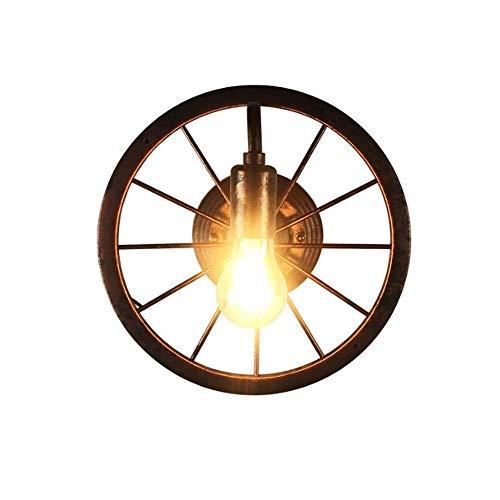 Gusseisen Decke Beleuchtung (YQJJZX Rustikaler Zustand Gusseisen Vintage industrielle Rad Bauernhaus Wandhalterung Riemenscheibe Durchmesser für Custom machen Lampen, Retro Wheel Wall Lamp Wall Cafe)