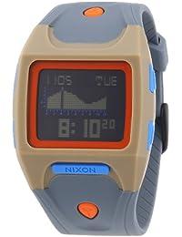 Nixon The Lodown Khaki / Blue / Burnt Orange A5301352-00 - Reloj cronógrafo de cuarzo unisex, correa de plástico color gris (alarma, cronómetro, luz)