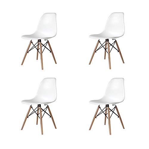 ventamueblesonline pack de 4 sillas nordicas tower wood blanca replica eames