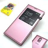 Samsung Galaxy S5 i9600 SM-G900f Custodia Cover HOCO Sottile S-View Originale Serie Pelle Batteria Casi Posteriori & Cover da Suprizebox (Tm) - Rosa Rosa