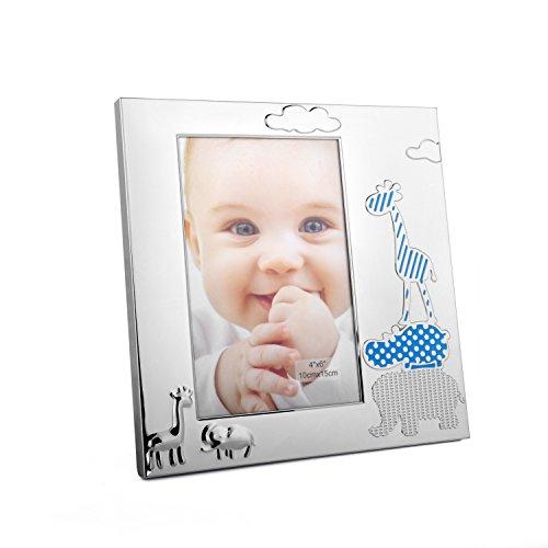 Baby Bilderrahmen in verschiedenen Designs (Tiermotiv Junge, Foto 10 x 15)