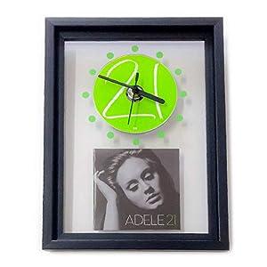 ADELE – 21: GERAHMTE CD-WANDUHR/Exklusives Design