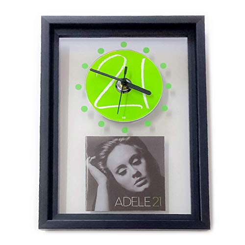 ADELE - 21: GERAHMTE CD-WANDUHR/Exklusives Design