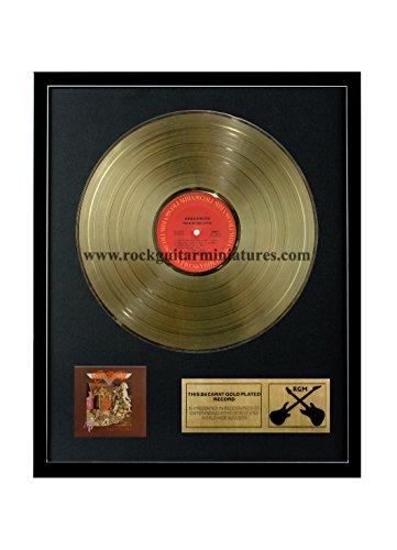 RGM1096 Aerosmith Toys In The Attic Gold überzogene 12 '' LP von Rock Guitar Miniatures (Aerosmith Sammlerstücke)
