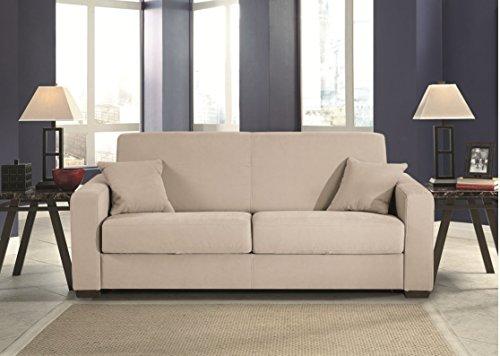 Divano Letto Bianco Ecopelle : Divano letto posti trasformabile mod heaven con materasso super