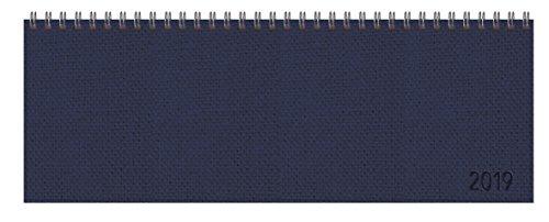 Tischquerkalender Professional Premium dunkelblau 2019