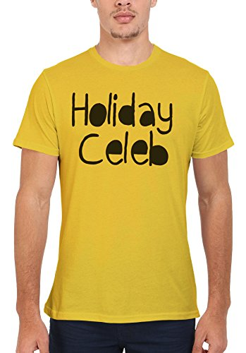 Holiday Celeb Summer Cool Funny Men Women Damen Herren Unisex Top T Shirt Licht Gelb