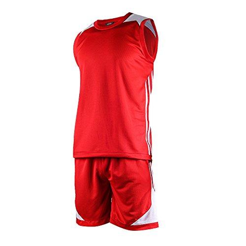 Festnight Basketball Shirt Uniformen Set Basketballtrikot Ärmellose Sportbekleidung Atmungsaktiv Basketball Trikot für Männer