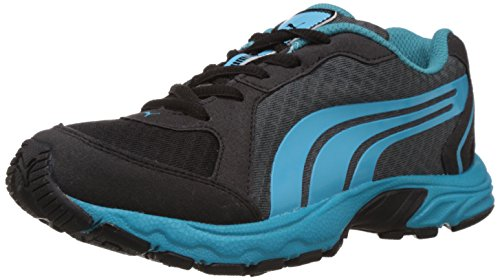 Puma Boy's Axis 2 Jr DP Black-Turbulence-Blue-Breeze Running Shoes - 11C UK  available at amazon for Rs.1400