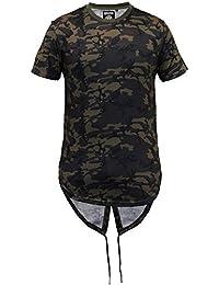 Hommes Longue Ligne Haut À Capuche Militaire Camouflage Queue-de-pie T-shirts Par Soul Star