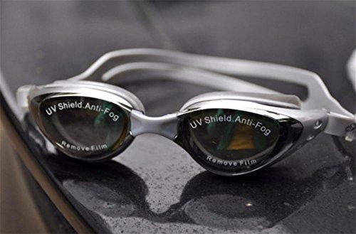 Placcatura Miopia Occhiali Di Protezione / Grande Scatola Di Modo Occhiali Impermeabile Anti-Fog Nuoto / Nuoto Occhiali Per Uomo E Donna , Silver (400 Degrees),argento (400 gradi)