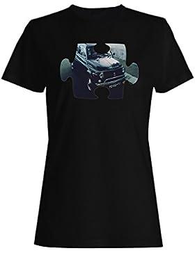 Rompecabezas viejo vintage hermoso coche camiseta de las mujeres e647f