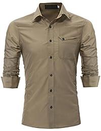 M-3XL , Herren Premium Hemd T-Shirt Langarm Shirt   Yogogo Casual Rundhals  Muskelshirt T-Shirt   Tshirt Herren Slim Fit   Herren… e261f96b41