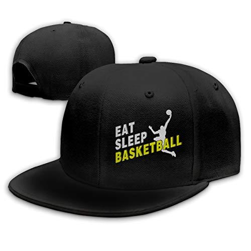Browning Black Hat (Abigails Home Essen Sie Schlaf Basketball-1 justierbares Baseballmütze-Hip-Hop-Hut-Sport-kühles Art- und Weiseschwarzes der Männer)