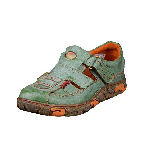 TMA EYES 7096 Sandalette Gr.36-42 mit bequemen perforiertem Fußbett , ATMUNGSAKTIV Grün